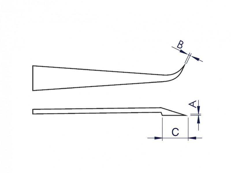 Engineering Tweezers 110 mm Delrin Plastic Bent Fine Head Tweezers UK