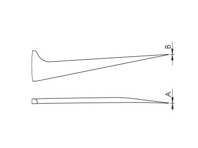 5A1SG S 0 - High Precision Eyelash Tweezers - SS - Serrated Handles